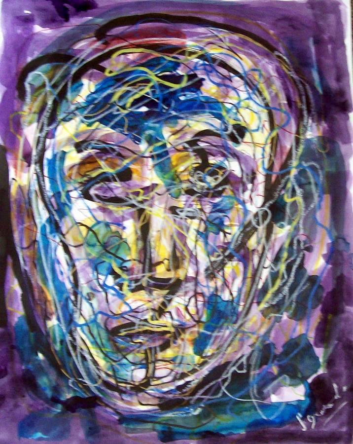 Johnny Incognito a mixed media on paper by Arthur Secunda