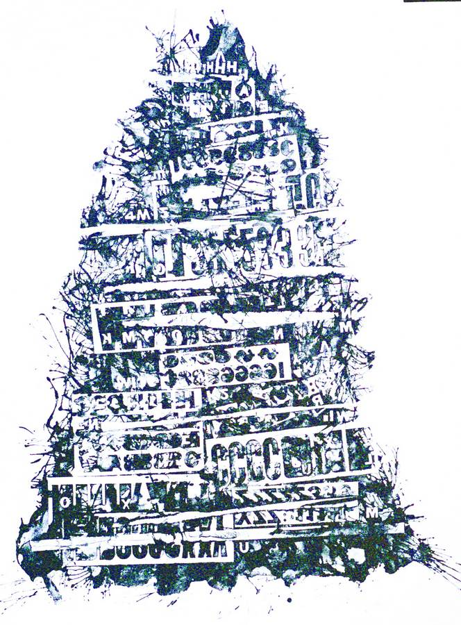 Babel a lithograph print by Arthur Secunda