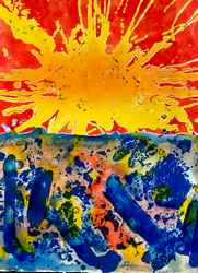 Sunburst II a mixed media, painting by Arthur Secunda